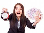 image of fantail  - Woman with  money  - JPG