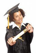 Постер, плакат: Демонстрируя свой диплом