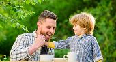 Ways To Develop Healthy Eating Habits. Feed Your Baby. Natural Nutrition Concept. Feeding Son Natura poster