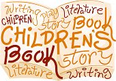 stock photo of childrens literature  - Text Illustration Celebrating Children - JPG