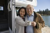stock photo of early 50s  - Senior Couple on Road Trip - JPG