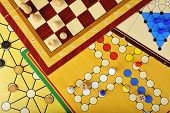 pic of draught-board  - Various board games of ludo - JPG