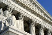 image of supreme court  - closeup of the supreme court building in washington dc - JPG