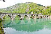 picture of former yugoslavia  - bridge over Drina River - JPG