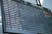 A picture of a brand new departure board at the airport poster