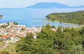 Scenery Of Epidaurus Town Argolis Greece - Drone View - Scenery From Above poster