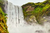 The Beautiful And Famous Skogafoss Waterfall On Iceland poster
