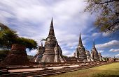 Wat Phra Si Sanphet temple in Ayutthaya Historical Park, a UNESCO world heritage site, Thailand poster