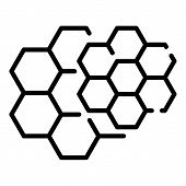 Honey Comb Icon. Outline Honey Comb Vector Icon For Web Design Isolated On White Background poster