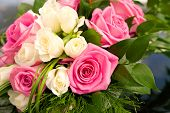 stock photo of bunch roses  - Close - JPG