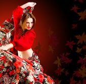 Постер, плакат: танцовщица Цыганка