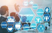 Teamwork And Business Human Resources Concept poster