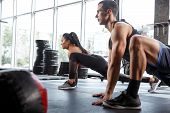 A Muscular Athletes Doing Workout At The Gym. Gymnastics, Training, Fitness Workout Flexibility. Act poster