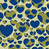 Seamless Abstract Generative Distributed Hearts Holes On A White Background. Vector Illustration Sui poster