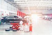 Auto Repair Service. Blurred Background. Car Repair Center Auto Repair Service Station Blurred Backg poster
