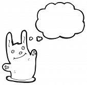 pic of rabbit hole  - cartoon waving rabbit - JPG