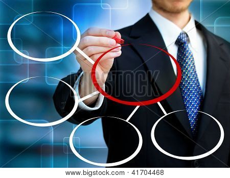 Businessman Drawing Circles