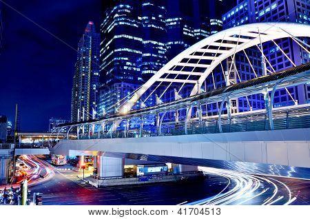 Sky Bridge Connection To Bangkok Rapid Transit Station, Bangkok, Thailand