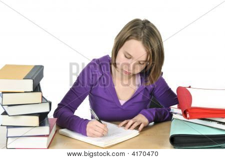 Teenage Girl Studying
