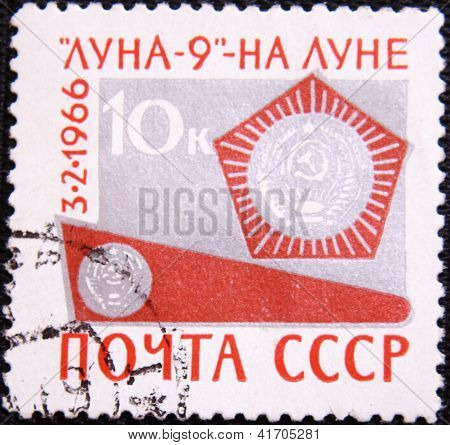 RUSSIA - CIRCA 1966: stamp printed by USSR shows