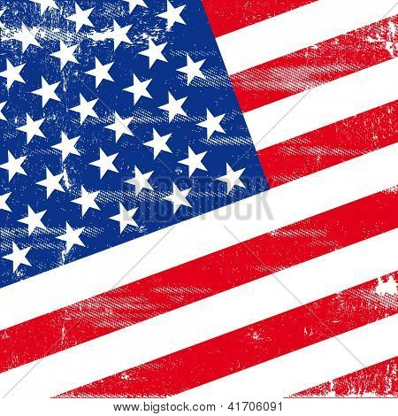 US square grunge flag. An american grunge flag for  you