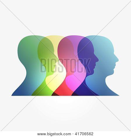Rainbow Transparency Heads