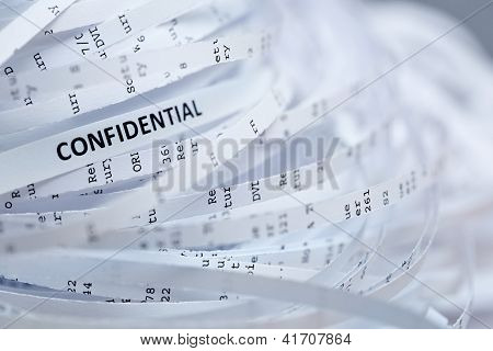 Pile Of Shredded Paper - Confidential