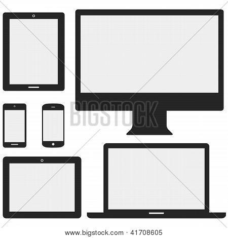 Iconos de los dispositivos electrónicos