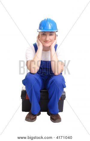 Content Female Builder