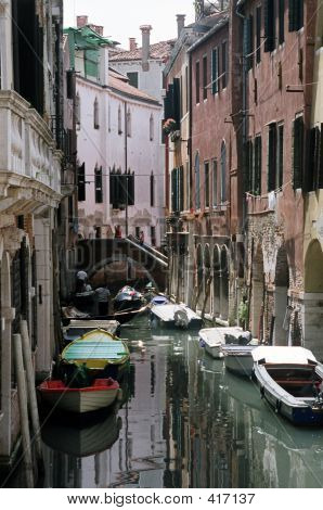 Small Canal In Venice