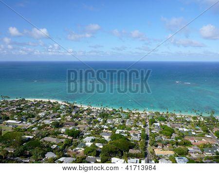 Lanikai Town, Beach, And Pacific Ocean