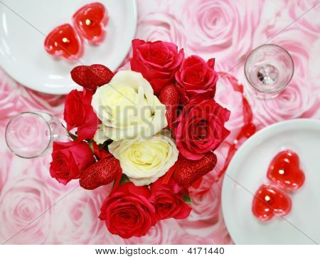 Table Setting For Valentine