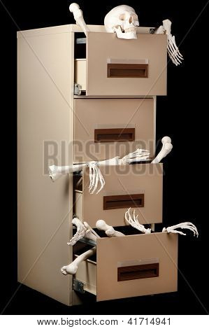 Skeletons In Cabinet