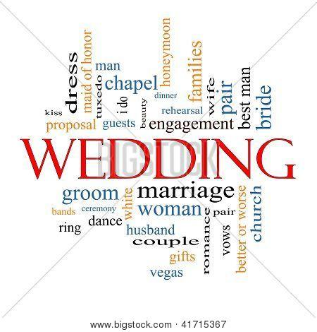 Wedding Word Cloud Concept