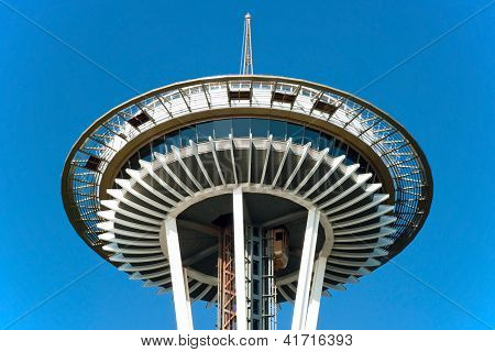 Space Needle em Seattle close-up vista