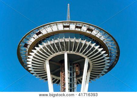 Space Needle em Seattle close-up vista