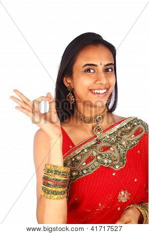 Young Indian Woman In Traditional Clothing