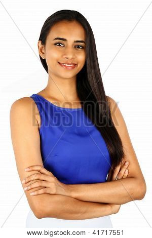 Portrait Of A Young Business Woman With A Smile.