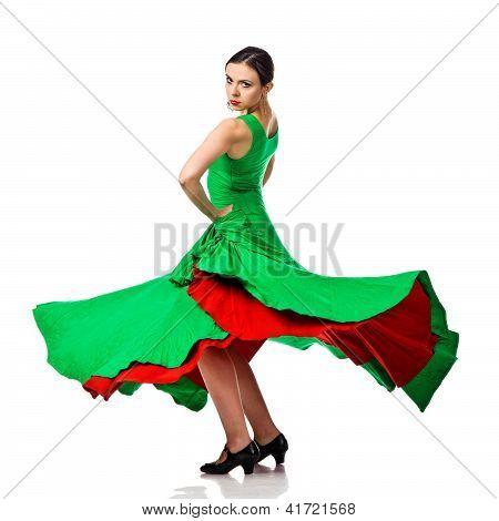 Woman Gypsy Flamenco Dancer