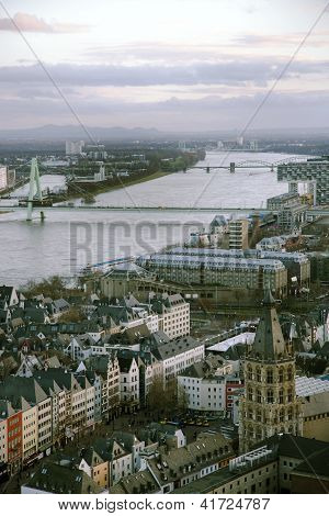 View from above on Cologne
