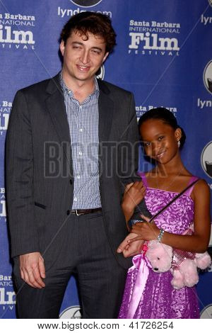 SANTA BARBARA - JAN 29:  Benh Zeitlin, Quvenzhane Wallis arrives at the  Santa Barbara International Film Festival's 2013 Virtuosos Award at Arlington Theater on January 29, 2013 in Santa Barbara, CA