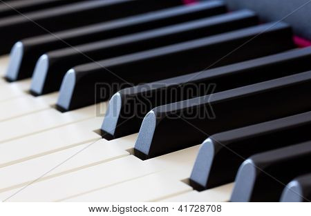 Piano Keys Close-up