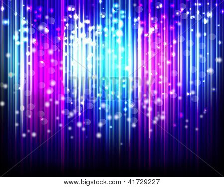Glowing Abstract Lines Background, Eps10 For Your Design