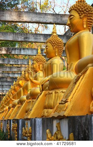 Buddha Statue At Thailand Temple