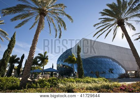 ST. PETERSBURG, FLORIDA - JANUARY 31: Exterior of  Salvador Dali Museum January 31, 2013 in St. Petersburg, FL. The museum houses the largest collection of the works of Salvador Dali outside Europe.