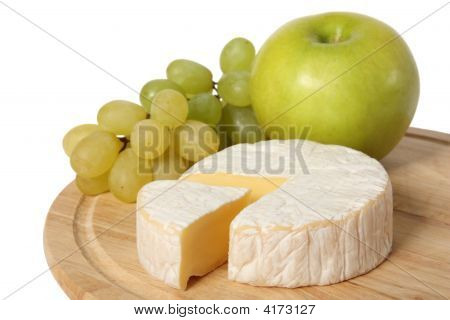 Cheese, Apple And Grapes