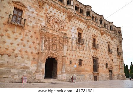 Facade of the Palace of Dukes of Infantry in Guadalajara, Spain