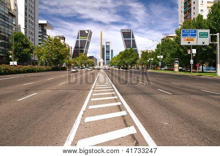Puerta de Europa in Madrid, Spain