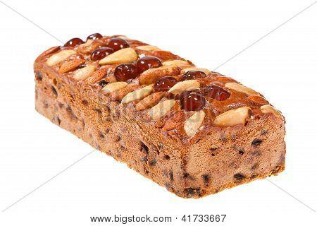 Fruitcake Isolated On A White Background