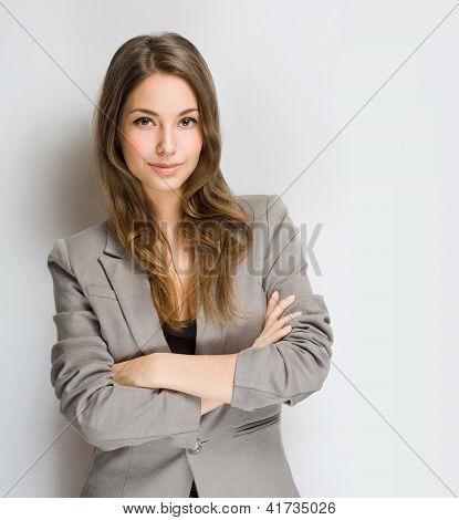 Stylish Young Brunette Woman.